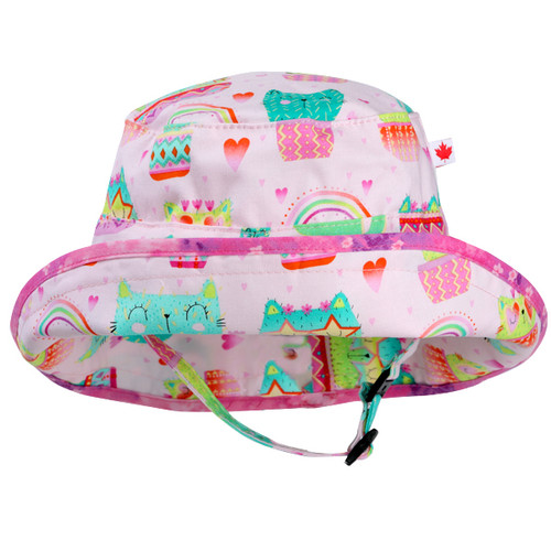 Kitty Cactus Adjustable Sun Hat - Front View