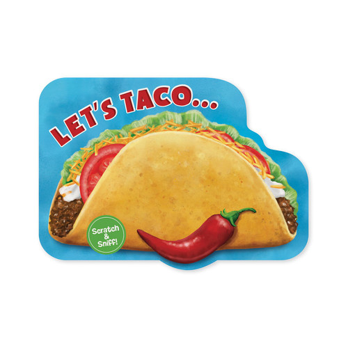 Peaceable Kingdom taco scratch and sniff birthday card