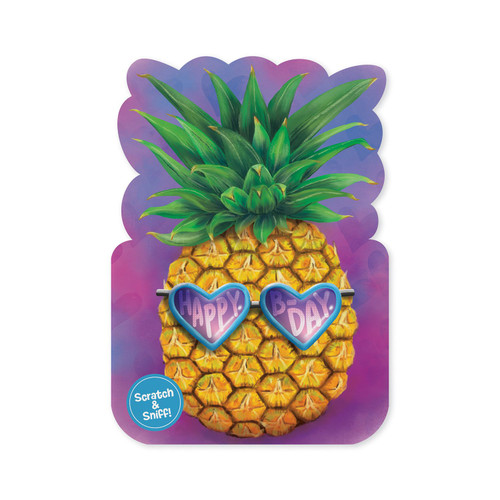 Peaceable Kingdom pineapple scratch & sniff birthday card