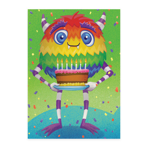 Colourful monster birthday card Peaceable Kingdom