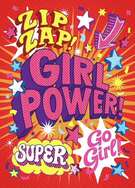 Girl Power Peaceable kingdom birthday card