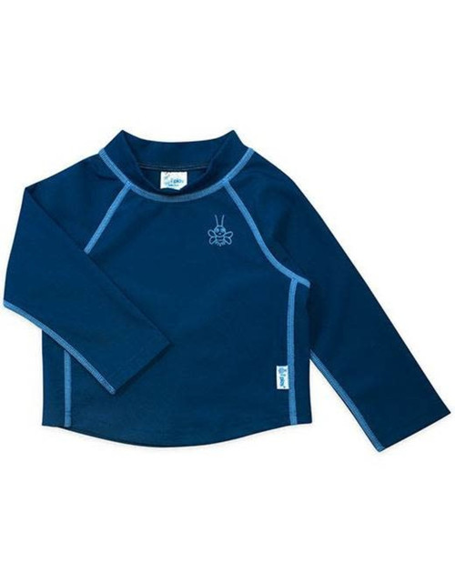 Iplay long sleeve baby UPF rashguard blue