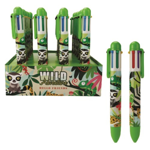 6-1in-1 pen with wild animal pictures