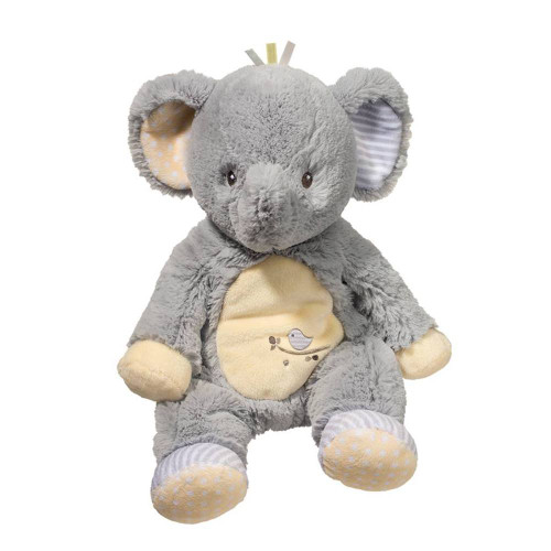 machine washable baby safe elephant plush toy