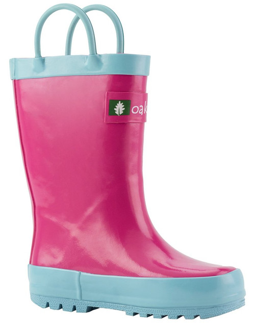 Oakiwear kids loop handle boots jazzy pink
