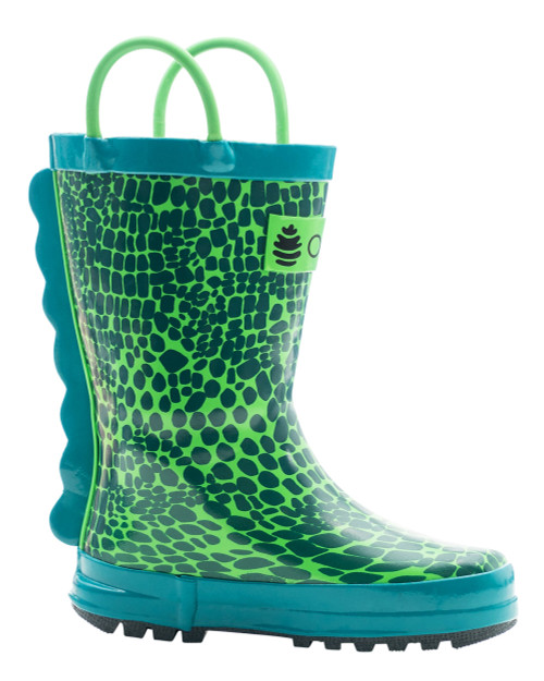 Oakiwear scaley monster loop handle kids rainboots