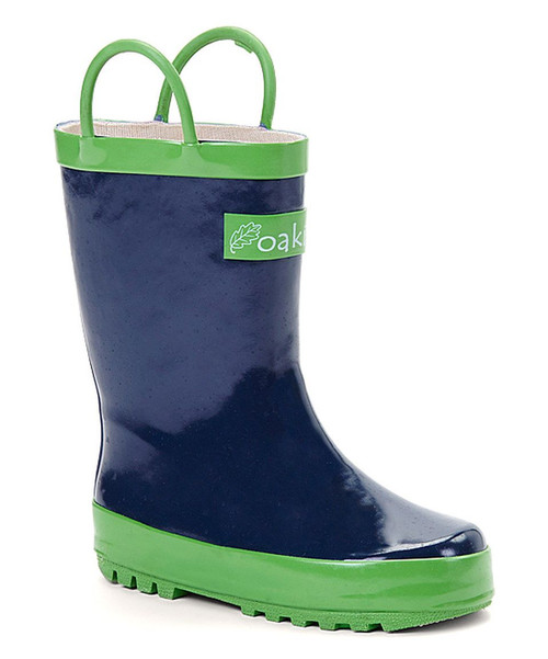 Oakiwear kids loop handle rainboots navy blue