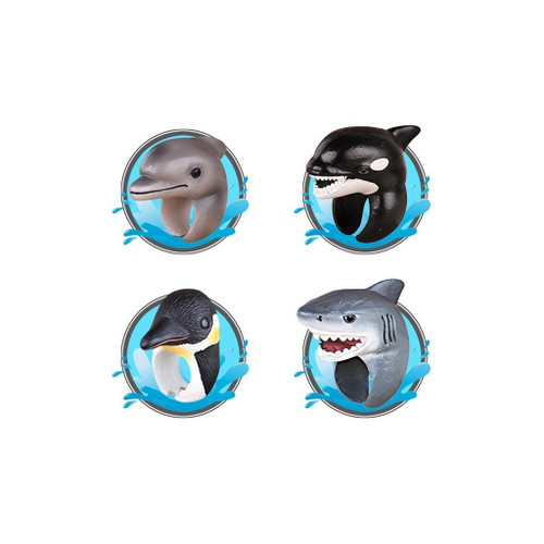 Great pretenders ocean animals kids rings, 4 shown