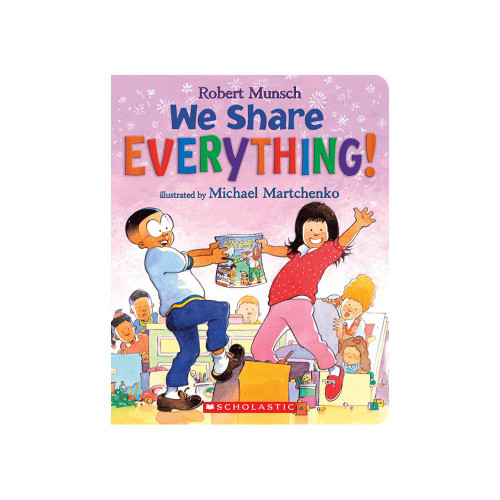 "Cover of board book ""we share everything"""