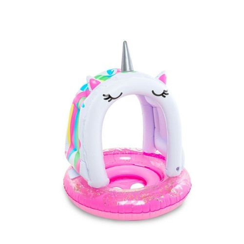 Lil unicorn toddler pool float with canopy