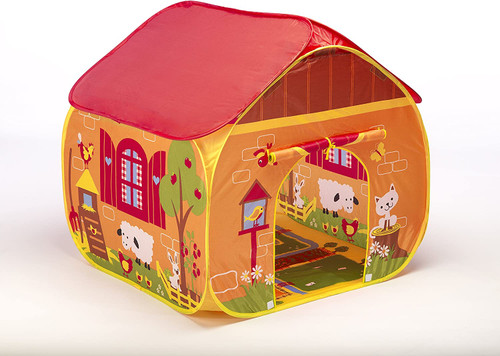 pop it up play tent, farm theme