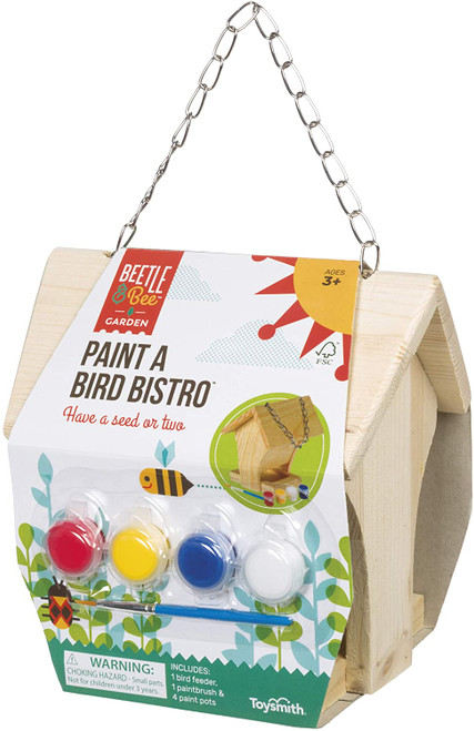 Paint a bird bistro kit shown in package