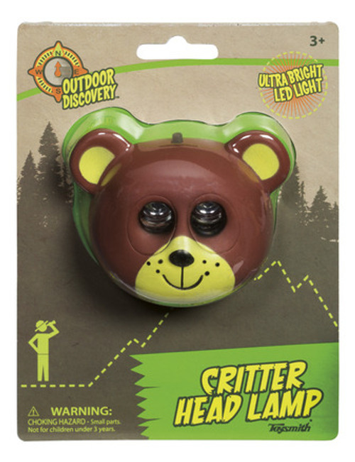 critter kids headlamp, bear in package