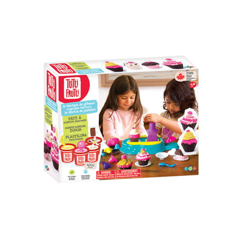 Tutti frutti large modelling dough set, cupcakes factory