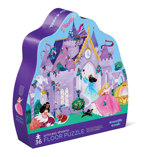 "crocodile creek 36 piece floor puzzle ""princess dreams"""