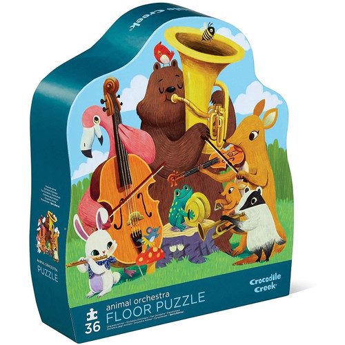 crocodile creek 36 piece puzzle animal orchestra