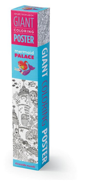 mermaid palace giant colouring poster, in box