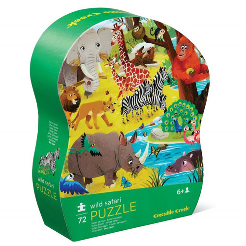 crocodile creek 72 piece kids puzzle wild safari