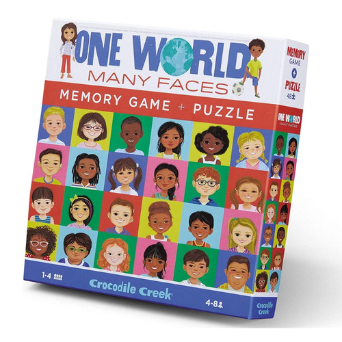 one world many faces 48 pc puzzle and memory game