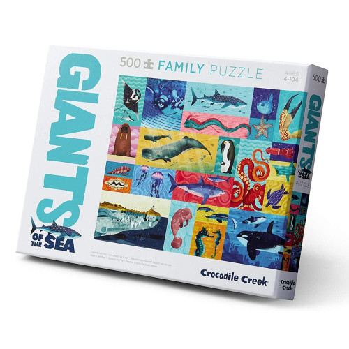 "crocodile creek 500pc family puzzle ""giants of the sea"""