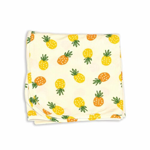 pineapple love bamboo jersey swaddle blanket
