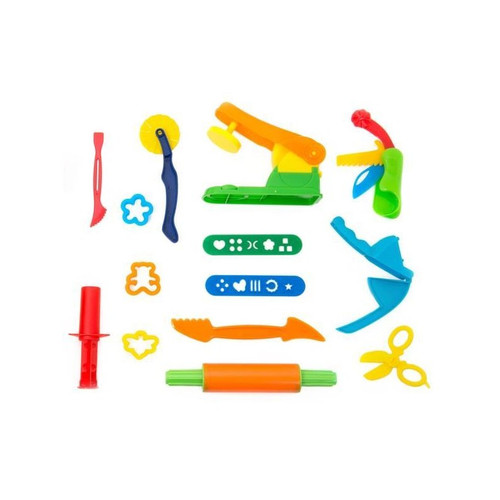 14 piece kids modelling dough tool set