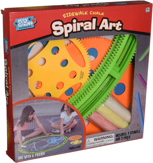 Spiral sidewalk chalk art set