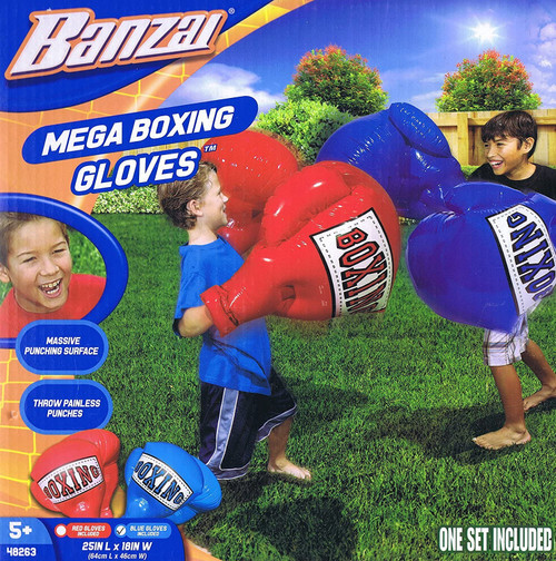 banzai mega inflatable boxing gloves for kids