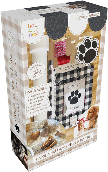 Make and bake dog treats kit, box