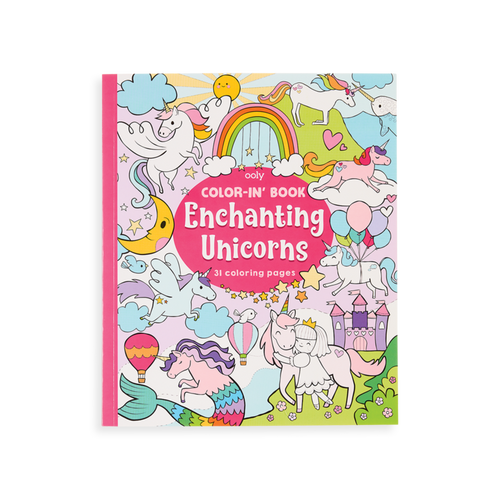 Enchanting Unicorns kids colouring book