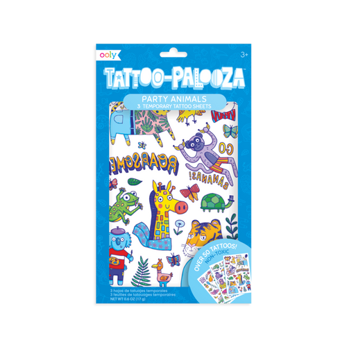 ooly party animal kids temporary tattoos