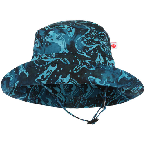Whale Pod Adjustable Sun Hat - Front View