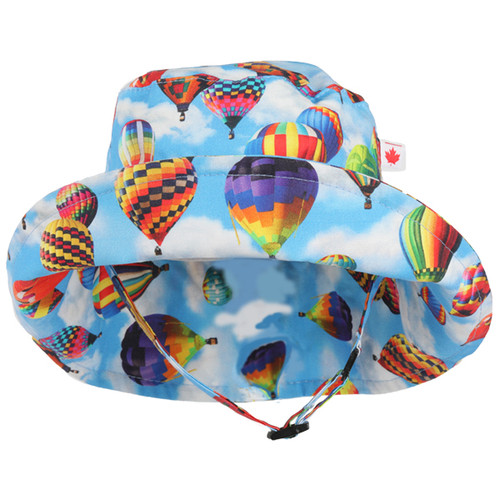 Hot Air Balloon Adjustable Sun Hat - Front View