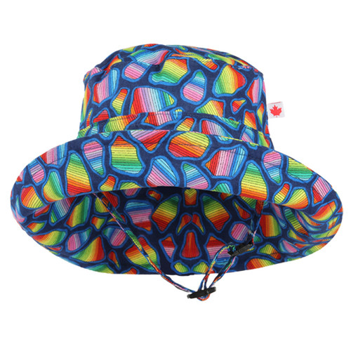 Rainbow Adjustable Sun Hat - Front View