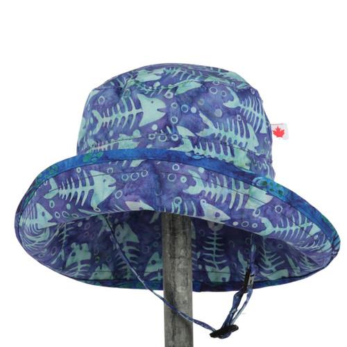 snug as a bug fish bones print kids adjustable sun hat