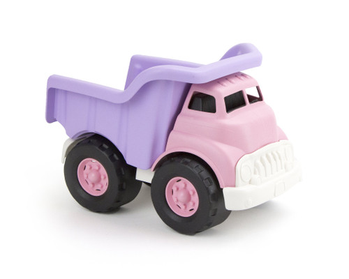Green toys pink dump truck toy