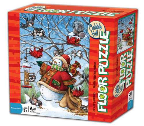 frosty feeds his friends 48 piece kids puzzle by cobble hill