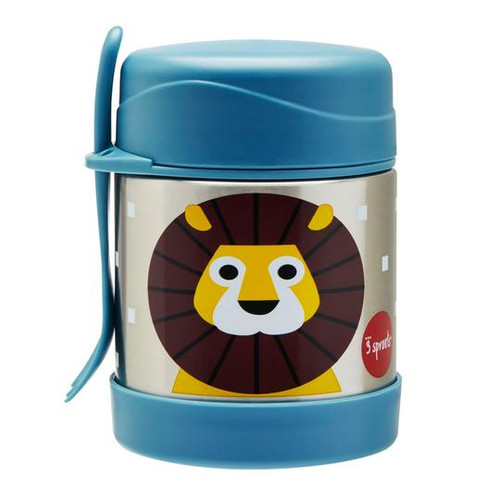3 sprouts lion print insulated food jar
