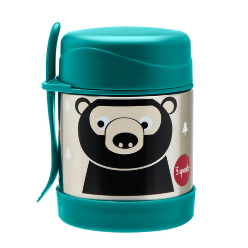 3 sprouts insulated lunch jar, bear print