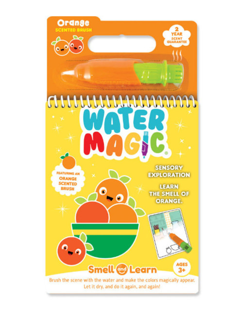 Smell and learn water magic activity set, orange scent