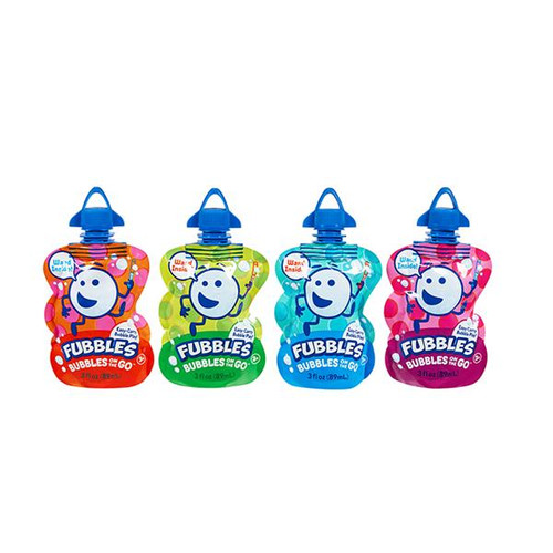 Fubbles bubbles on the go, 4 shown in assorted colours