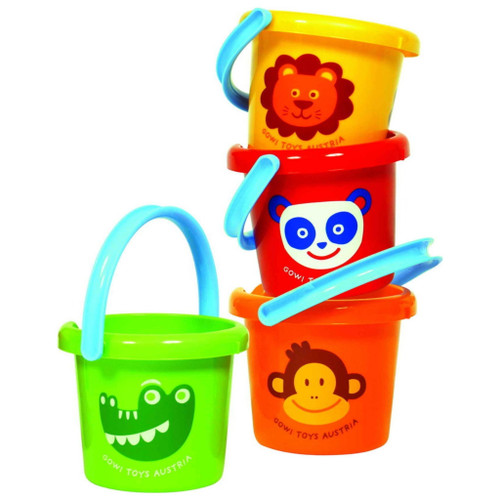 """gowi 7"""" sand bucket, 4 different colours"""