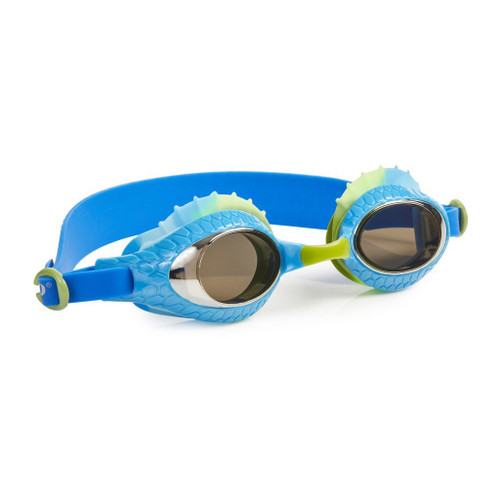 bling 2o kids swim goggles larry the lizzard style bearded dragon blue