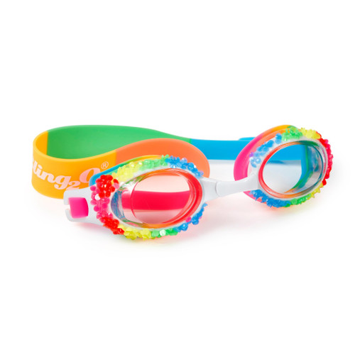 rainbow shaved ice style bling 2o swim goggles for children