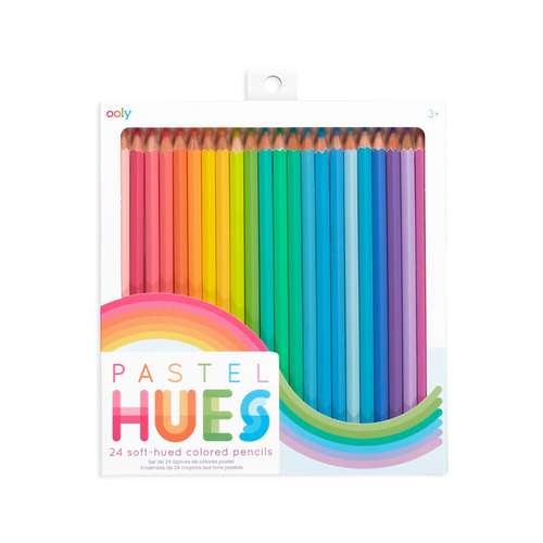 24 pack ooly pastel hues coloured pencils shown in box