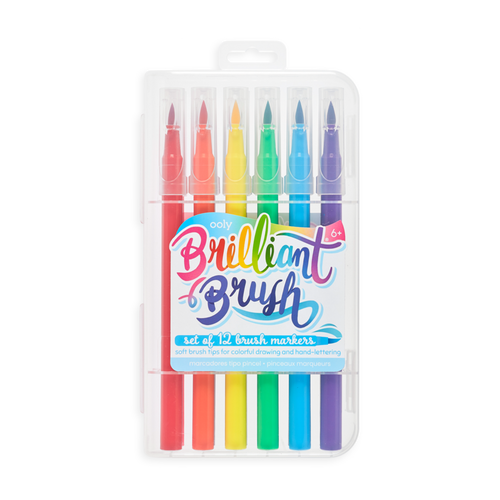 ooly brilliant brush 12 pack markers shown in package