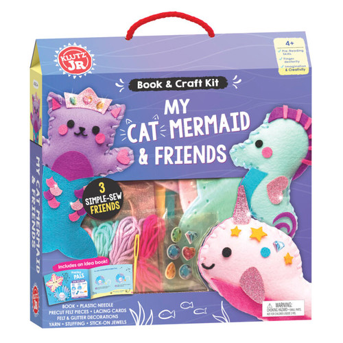 Klutz craft kid for kids, my cat mermaid and friends