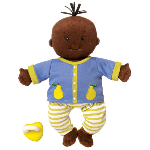 """baby stella soft 15"""" doll, brown skin and hair"""