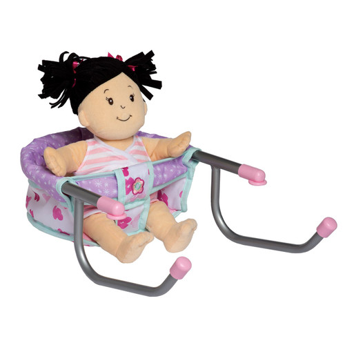 baby stella time to eat chair shown with brunette baby stella doll