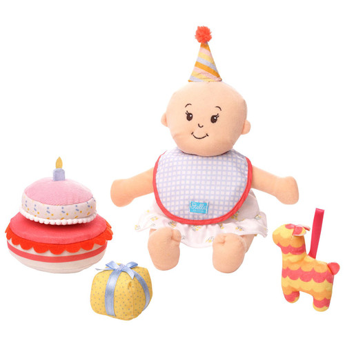 stella collection birthday accessories shown with a peach baby stella doll